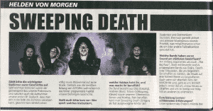 Sweeping Death, Metal Hammer, Helden von Morgen (1)